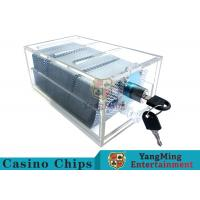 China Acrylic Casino Game Accessories Dealers Card Holder For 6 Decks Playing Cards wholesale