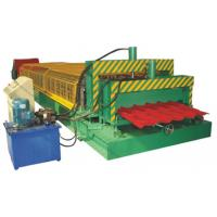China 5.5KW High Speed Double Deck Roll Forming Machine With Automatic Hydraulic Cutting wholesale