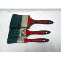 China Wholesale Flat Soft Black Bristle Paint Brush With Red Wooden Handle wholesale