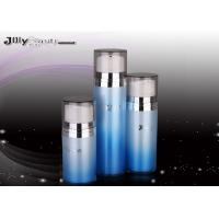 China Cover A Transparent Plastic Airless Bottle Blue Shape Airless Cosmetic Bottles wholesale