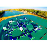 China Commercial Blue Inflatable Water Parks / Inflatable Floating Sea Park For Summer Game wholesale