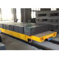 China 50T Material Transfer Heavy Duty Platform Trolley on Rails for Forged Plant Handling wholesale