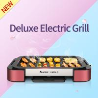 Buy cheap Electric Grill Pan with Non-stick Surface BBQ Griddle FST-53A red with  aluminium alloy product