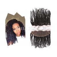 China 13'  X 4'' Smooth Soft Virgin Hair Lace Frontal Closure With Baby Hair wholesale