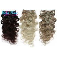China Highlighted White / Grey 1b# Clip In Hair Extension Unprocessed Virgin Human Hair wholesale