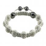 China Shamballa Crystal Ball Bangle Bracelets  wholesale