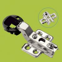 Quality plastic and cold rolled steel furniture hinge glass door hinge half overlay for sale