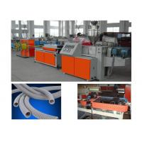 Quality PP PE PA PVC Single Wall Corrugated Pipe Production Line / PVC Pipe Extruder for sale