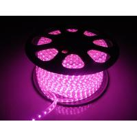 Quality 220V LED Flexiable Strips SMD5050 RGB multicolor Purple color IP65 high brightness for sale