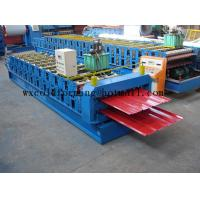 China Blue 5 M / Min Roof Panel Glazed Tile Roll Forming Machine With 18 Forming Station wholesale