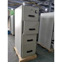 Quality Grey Steel Fire Resistant Filing Cabinets 4 Drawers For Valuable Records / for sale