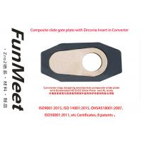 China Converter Slide Gate Refractory With Embedded Zirconia Insert 22 Sliding Times on sale