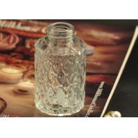 China Cut Glass Perfume Bottles Antique Transparent With Emboss Pattern on sale