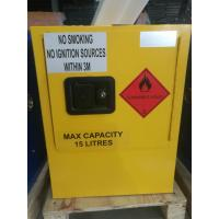 China Yellow Dangerous Goods Cabinets For Liquid , Industry Paint Safety Storage Cabinets wholesale
