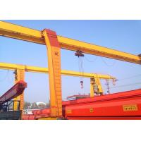 China 3~20 Tons Rail Mounted Gantry Crane Single Beam With Electric Hoist / Strong Winch wholesale