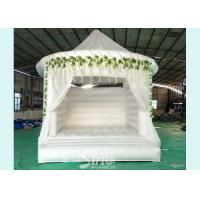 China 5x4 inflatable wedding white bouncy castle with flower decoration for wedding parties or events wholesale