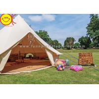 Buy cheap 5+ Person Outdoor Cotton Canvas Glamping Bell Tent Mongolian Yurt Tent Desert Tent  Canvas Family Camping Tent product