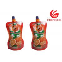 China Orange Juice / Water Shaped Drink Stand Up Pouch With Spout Bag wholesale
