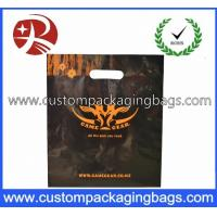 China LDPE / CPE Raw Die Cut Handle Plastic Bags Black Color For Apparel on sale