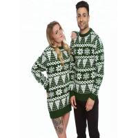 China Unisex Long Sleeve Knitted Jumper , Cool Christmas Sweaters Furry Snowflake Patterns wholesale
