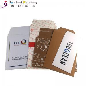 China Kraft Tear Strip Paper Cardboard Shipping Envelopes A4 / A5 Size OEM wholesale