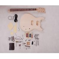 China Set In Neck DIY Electric Guitar Kits 3 Way Switch Guitar With Flamed Maple Veneered AG-DU2 wholesale