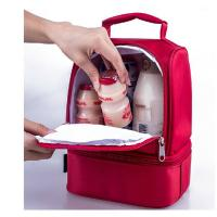 China Red Childrens Lunch Bags /  Insulated Lunch Bags For Kids Doube Layers wholesale