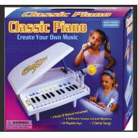 China Classic Small Plastic Toy Piano Battery Operated With Microphone Demo Songs wholesale