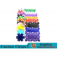Buy cheap American  Custom Made Various Color Casino Chips  with Dice from wholesalers