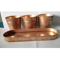 China Copper patina finish metal flower pot planter on sale