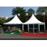 China Sturdy Glass Aluminum Pagoda Tent 6 X 6 Meter Size With Sidewall Curtain wholesale
