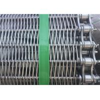 China Customized Stainless Steel Wire Mesh Conveyor Belt With Chain SGS Listed wholesale