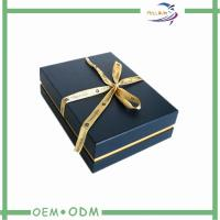 China Black Jewelry Gift Boxes With Velvet Insert , Necklace Packaging Box wholesale
