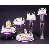 Quality Acrylic plexiglass display case , wedding cake display holders stands for sale