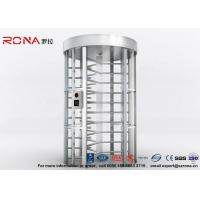 Quality Full Height Turnstile RFID Card Reader Fingerprint Stainless Steel Turnstiles for sale