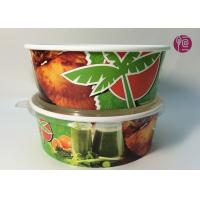 China Custom Logo Flexo Print Paper Salad Bowls Disposable 44oz With Lid wholesale