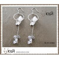 China Competitive price 925 sterling silver gemstone earrings with Zircon W-AS968 wholesale