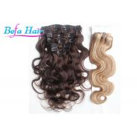 China Malaysian 22 Inch / 24 Inch Virgin Remy Clip In Hair Extension For Full Head wholesale