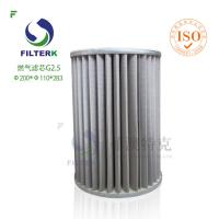 Quality Natrual Gas Cartridge Filters G series with Polyester Needle Punched Felt 400g/m2 for sale