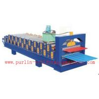 China Standing Seam Roof Panel Roll Forming Machine / Corrugated Rolling Forming Line wholesale