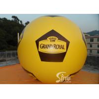 China Soccer Shape Giant Advertising Inflatable Helium Balloon With Full Printing on sale
