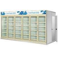 China Multi Deck Dairy Glass Door Freezer Back Load Beverage Cooler Cooling Room wholesale