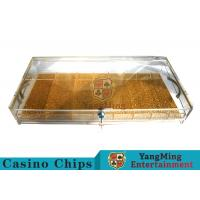 China Circle And Square Two Yards Casino Chip Case Portable With Cartridge Handle wholesale