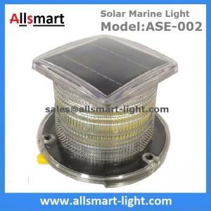 China 15LED Solar Marine Aquaculture Lights ASE-002 Buoys Navigation Hazard Warning Lights Flash Steady Type Solar Dock Light on sale