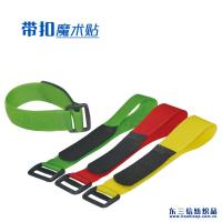 China Customized Size Adjustable Hook And Loop Fastener Straps With Plastic Buckle wholesale