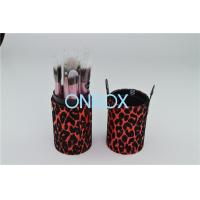 Quality Eco Friendly Luxury Cosmetic Box / Leopard Print PU Tube Case Fashion Handy for sale