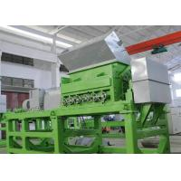 China Double Shaft Waste Tyre Recycling Machine , Used Tire Shredder Equipment With SKF Bearing wholesale