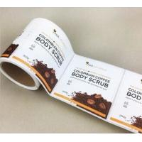 China Round Shape Synthetic Paper Sticker Blank Printing With Customized Size wholesale
