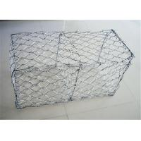 China 2m X 1m X 1m Pvc Coated Gabion Wire Mesh / Stone Cage Wire Mesh wholesale