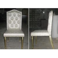 China OEM Hotel Gold Leaf Fabric Modern Dining Room Chairs With Button - Tufted wholesale